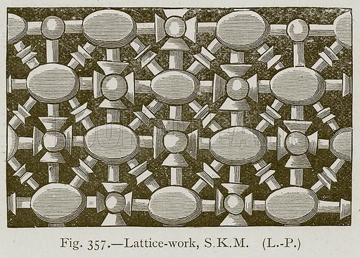 Lattice-Work; S.K.M. Illustration for Historic Ornament by James Ward (Chapman and Hall, 1897).