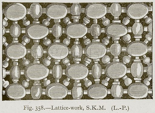 Lattice-Work, SKM Illustration for Historic Ornament by James Ward (Chapman and Hall, 1897).