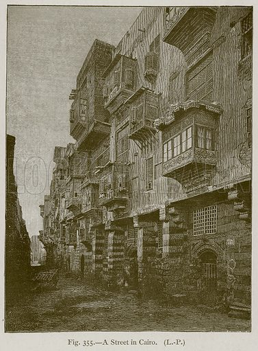 A Street in Cairo. Illustration for Historic Ornament by James Ward (Chapman and Hall, 1897).