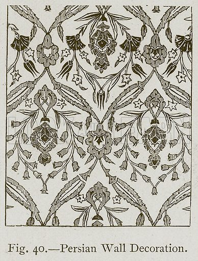 Persian Wall Decoration. Illustration for Historic Ornament by James Ward (Chapman and Hall, 1897).