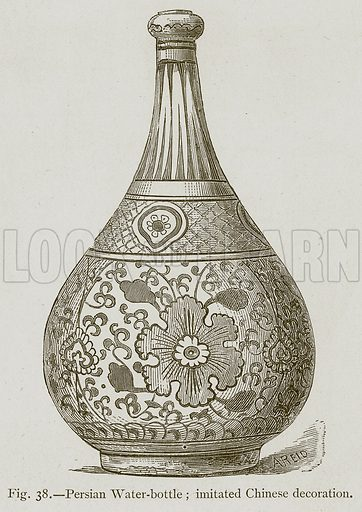 Persian Water-Bottle; Imitated Chinese Decoration. Illustration for Historic Ornament by James Ward (Chapman and Hall, 1897).