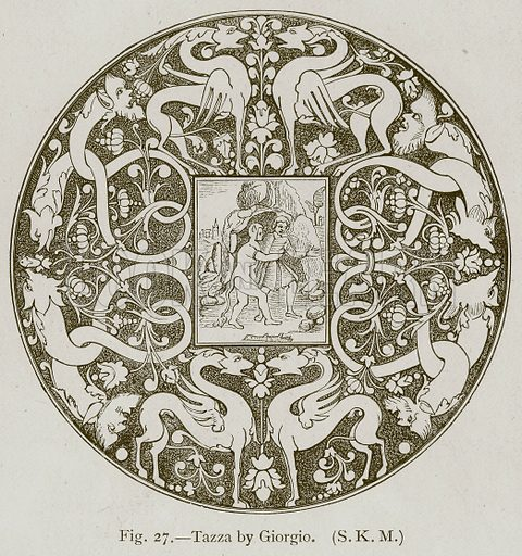 Tazza by Giorgio. Illustration for Historic Ornament by James Ward (Chapman and Hall, 1897).