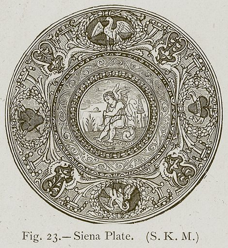 Siena Plate. Illustration for Historic Ornament by James Ward (Chapman and Hall, 1897).