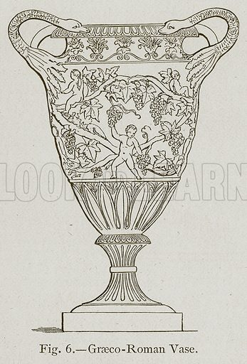Graeco-Roman Vase. Illustration for Historic Ornament by James Ward (Chapman and Hall, 1897).