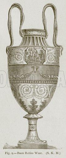 Buen Retiro Ware. Illustration for Historic Ornament by James Ward (Chapman and Hall, 1897).