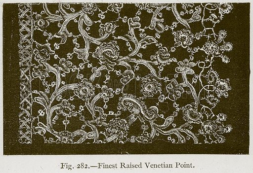 Finest Raised Venetian Point. Illustration for Historic Ornament by James Ward (Chapman and Hall, 1897).