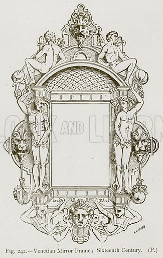 Venetian Mirror Frame; Sixteenth Century. Illustration for Historic Ornament by James Ward (Chapman and Hall, 1897).