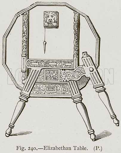 Elizabethan Table. Illustration for Historic Ornament by James Ward (Chapman and Hall, 1897).