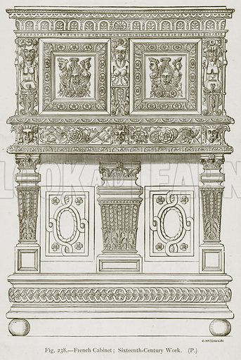 French Cabinet; Sixteenth-Century Work. Illustration for Historic Ornament by James Ward (Chapman and Hall, 1897).