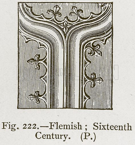Flemish; Sixteenth Century. Illustration for Historic Ornament by James Ward (Chapman and Hall, 1897).