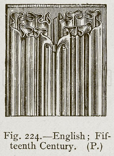 English; Fifteenth Century. Illustration for Historic Ornament by James Ward (Chapman and Hall, 1897).