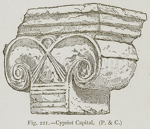 Cypriot Capital. Illustration for Historic Ornament by James Ward (Chapman and Hall, 1897).