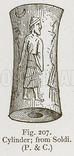 Cylinder; from Soldi. Illustration for Historic Ornament by James Ward (Chapman and Hall, 1897).
