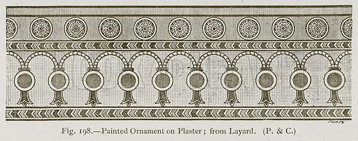 Painted Ornament on Plaster; from Lavard. Illustration for Historic Ornament by James Ward (Chapman and Hall, 1897).