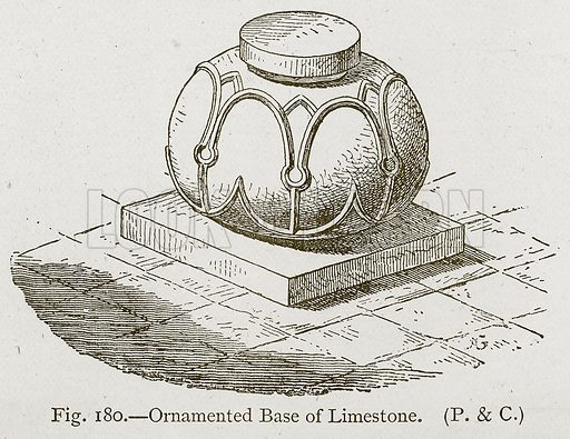 Ornamented Base of Limestone. Illustration for Historic Ornament by James Ward (Chapman and Hall, 1897).