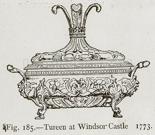 Tureen at Windsor Castle 1773. Illustration for Historic Ornament by James Ward (Chapman and Hall, 1897).