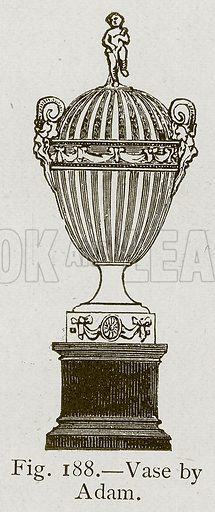Vase by Adam. Illustration for Historic Ornament by James Ward (Chapman and Hall, 1897).