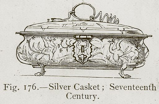 Silver Casket; Seventeenth Century. Illustration for Historic Ornament by James Ward (Chapman and Hall, 1897).