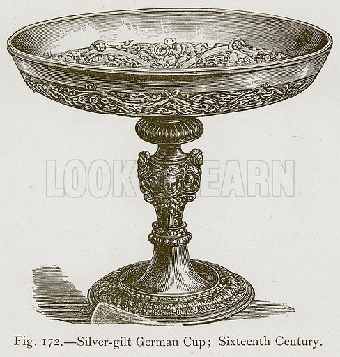 Silver-Gilt German Cup; Sixteenth Century. Illustration for Historic Ornament by James Ward (Chapman and Hall, 1897).
