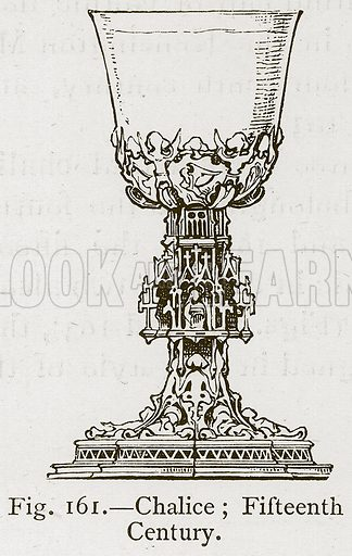 Chalice; Fifteenth Century. Illustration for Historic Ornament by James Ward (Chapman and Hall, 1897).