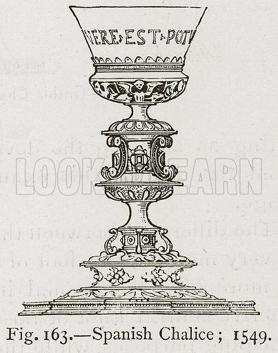Spanish Chalice; 1549. Illustration for Historic Ornament by James Ward (Chapman and Hall, 1897).