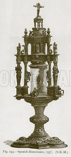 Spanish Monstrance, 1537. Illustration for Historic Ornament by James Ward (Chapman and Hall, 1897).