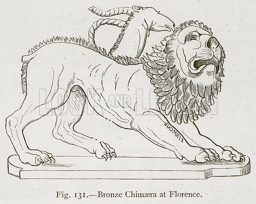Bronze Chimaera at Florence. Illustration for Historic Ornament by James Ward (Chapman and Hall, 1897).