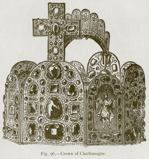 Crown of Charlemagne. Illustration for Historic Ornament by James Ward (Chapman and Hall, 1897).
