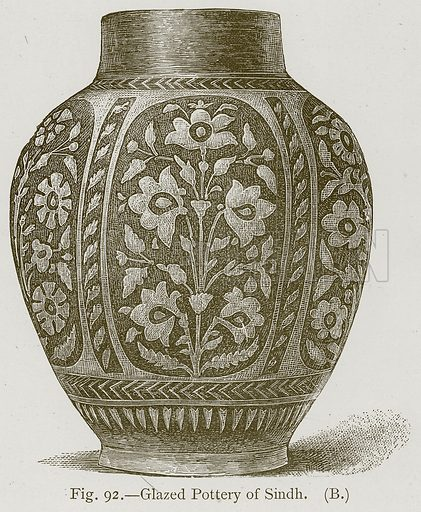 Glazed Pottery of Sindh. Illustration for Historic Ornament by James Ward (Chapman and Hall, 1897).