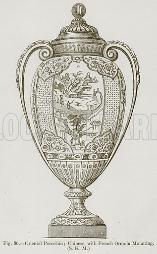 Oriental Porcelain; Chinese, with French Ormolu Mounting. Illustration for Historic Ornament by James Ward (Chapman and Hall, 1897).
