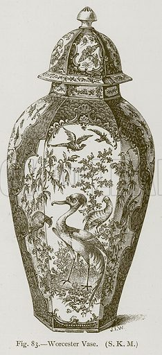 Worcester Vase. Illustration for Historic Ornament by James Ward (Chapman and Hall, 1897).