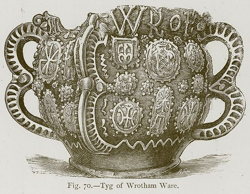 Tyg of Wrotham Ware. Illustration for Historic Ornament by James Ward (Chapman and Hall, 1897).
