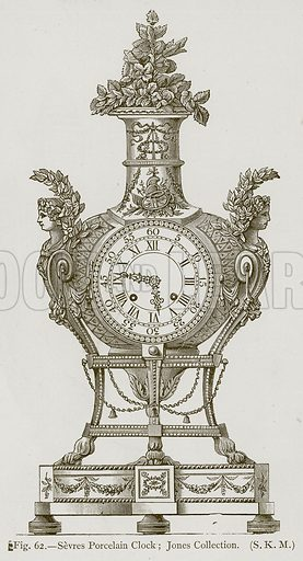 Sevres Porcelain Clock; Jones Collection. Illustration for Historic Ornament by James Ward (Chapman and Hall, 1897).