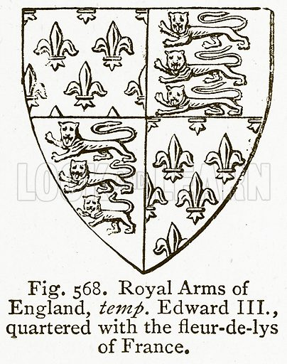 Royal Arms Of England Temp Edward Iii Quartered With The