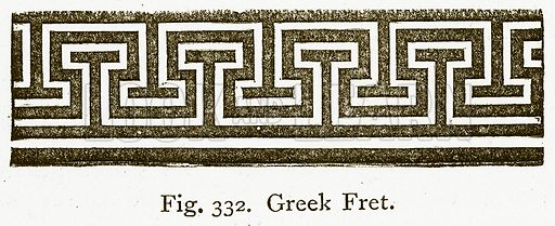 Greek Fret. Illustration for An Illustrated Dictionary of Art and Archeology by J W Mollett (Sampson Low, 1883).