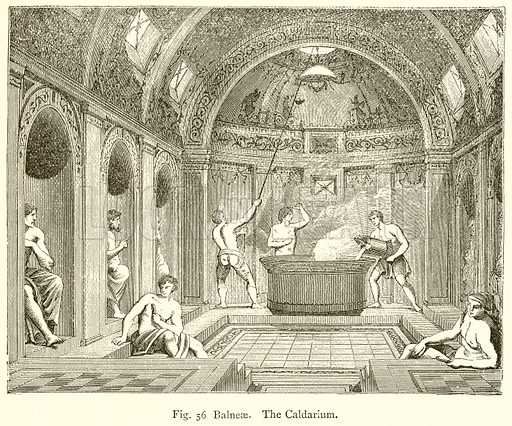 Balneae. The Caldarium. Illustration for An Illustrated Dictionary of Art and Archeology by JW Mollett (Sampson Low, 1883).