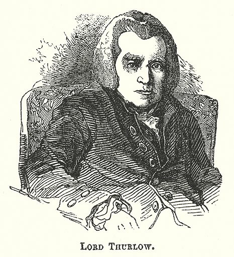 Lord Thurlow. Illustration for The Pictorial History of England (W & R Chambers, 1858).