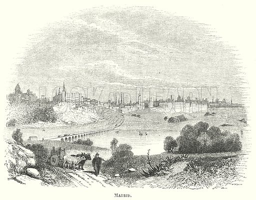 Madrid. Illustration for The Pictorial History of England (W & R Chambers, 1858).