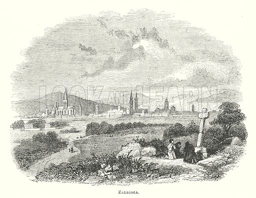 Zaragoza. Illustration for The Pictorial History of England (W & R Chambers, 1858).