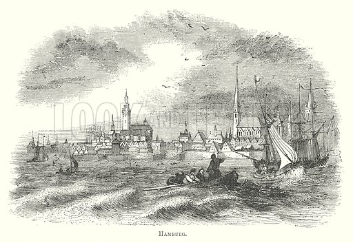 Hamburg. Illustration for The Pictorial History of England (W & R Chambers, 1858).
