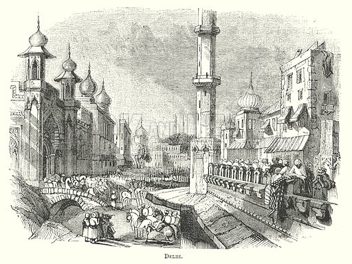 Delhi. Illustration for The Pictorial History of England (W & R Chambers, 1858).