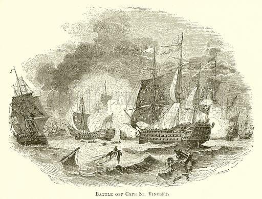 Battle off  Cape St Vincent, picture, image, illustration