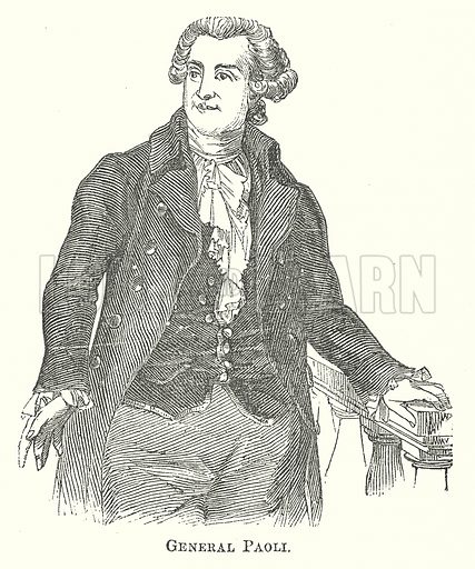 General Paoli. Illustration for The Pictorial History of England (W & R Chambers, 1858).