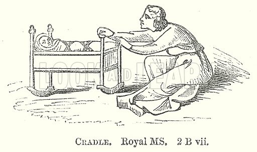 Cradle. Illustration for The Pictorial History of England (W & R Chambers, 1858).