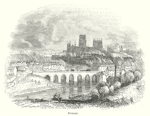Durham. Illustration for The Pictorial History of England (W & R Chambers, 1858).