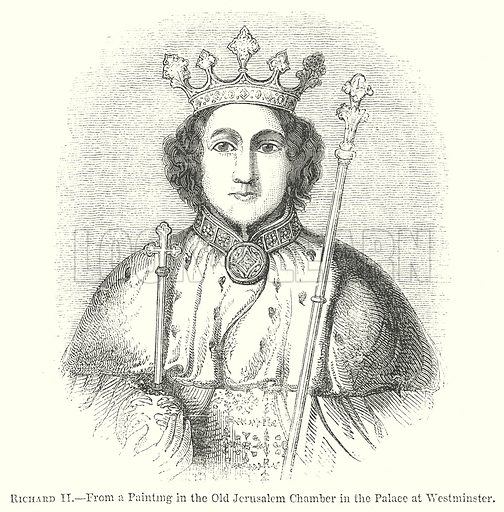 Richard II. Illustration for The Pictorial History of England (W & R Chambers, 1858).