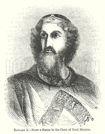 Edward I. Illustration for The Pictorial History of England (W & R Chambers, 1858).