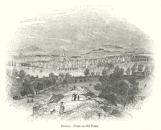 Perth. Illustration for The Pictorial History of England (W & R Chambers, 1858).