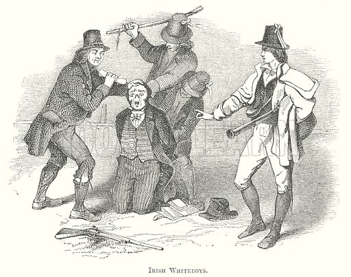 Irish Whiteboys. Illustration for The Pictorial History of England (W & R Chambers, 1858).