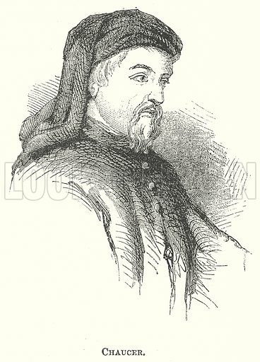 Chaucer. Illustration for The Pictorial History of England (W & R Chambers, 1858).